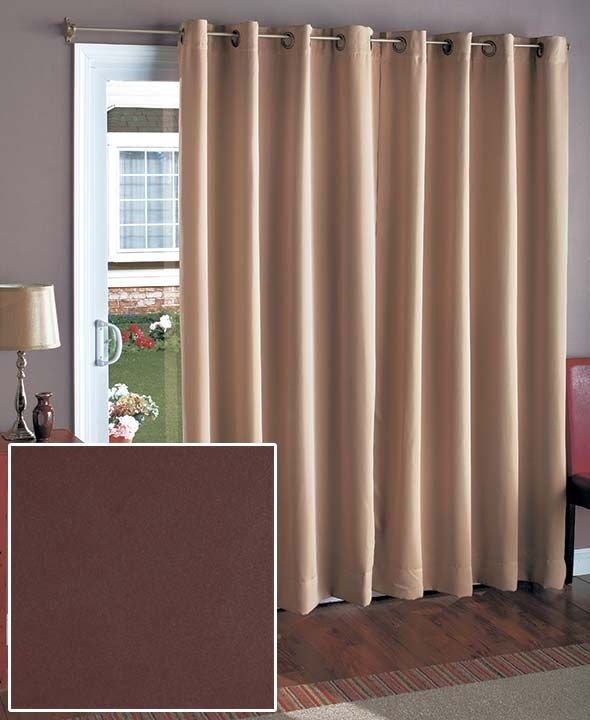 At Wide This Blackout Curtain Covers A Patio Door Or Pair Of French Doors The Light Blocking Panel Saves You Money By Reducin