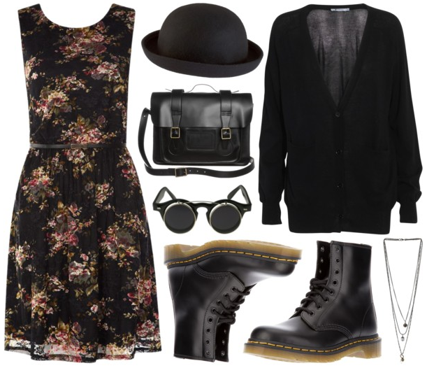 polyvore-gore:  Requested: Boho with a Dark Twist