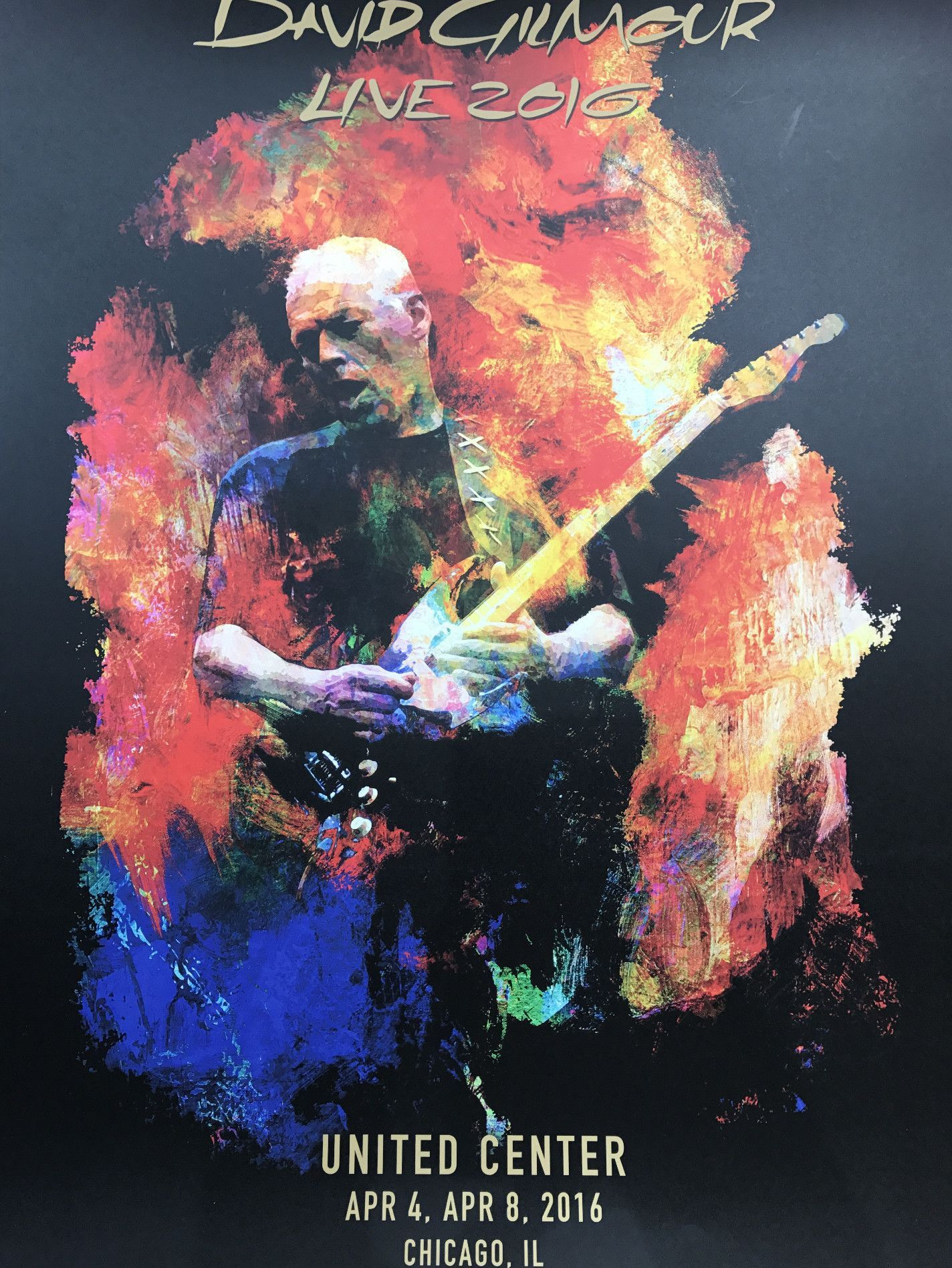 David Gilmour 2016 poster Chicago IL