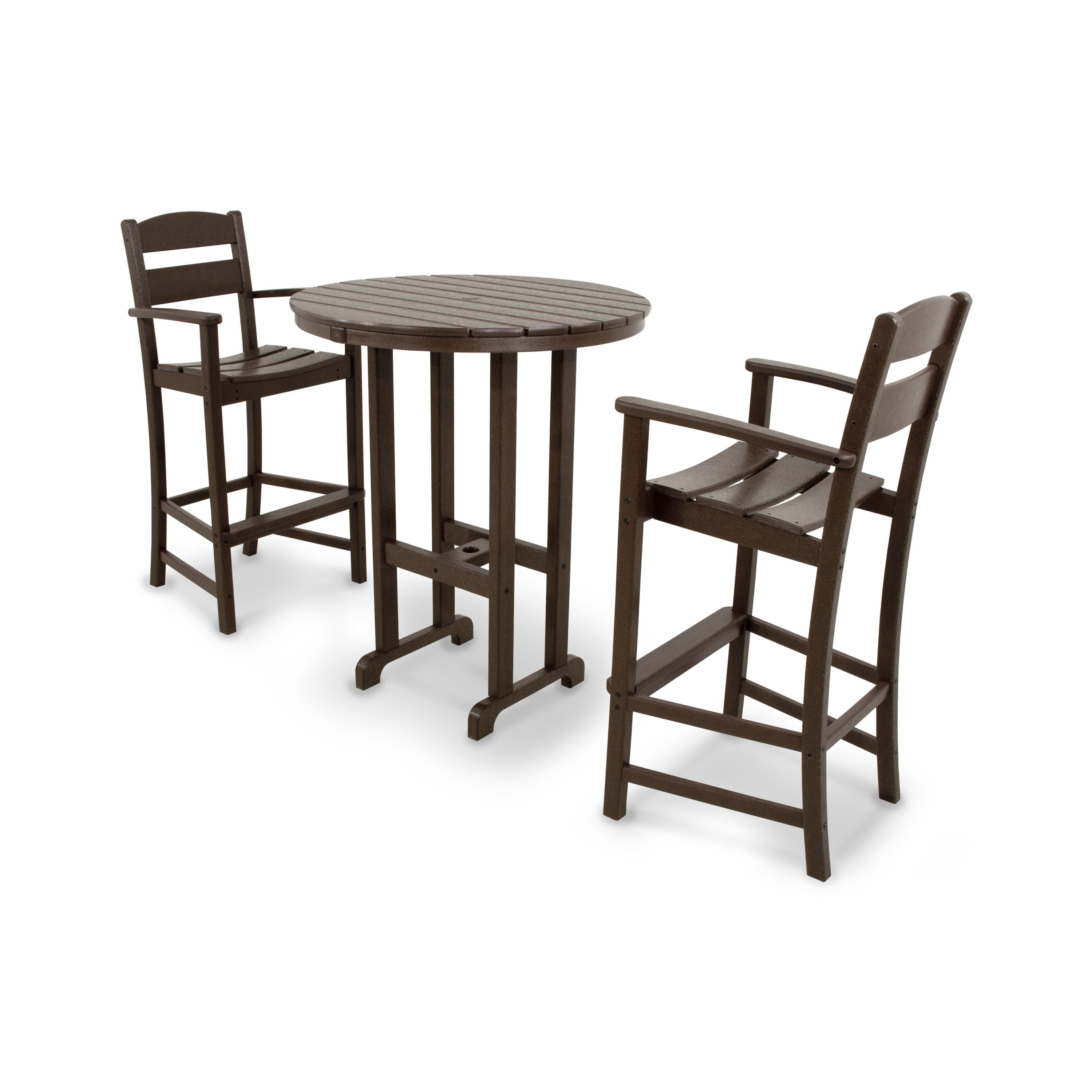 Ivy Terrace Clics 3 Piece Bar Set Black Patio Furniture Plastic
