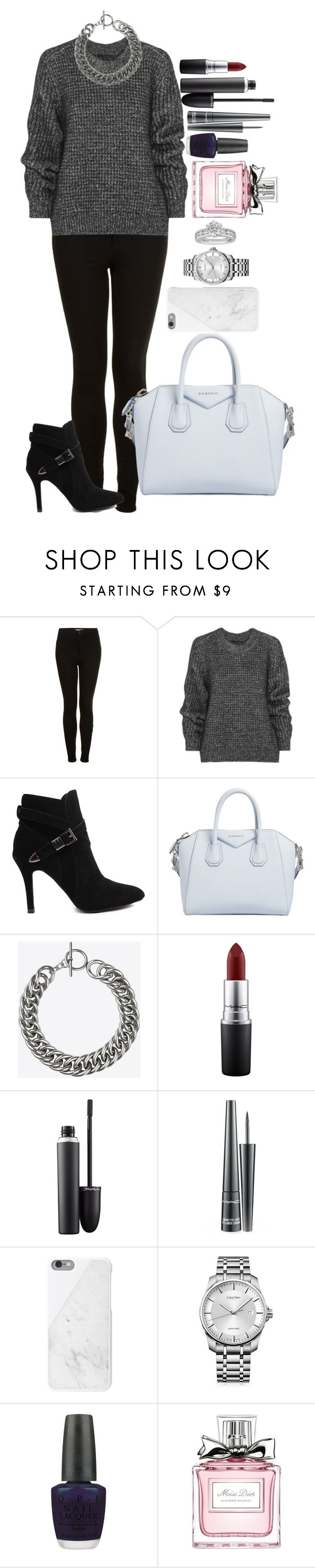 """""""Untitled #1309"""" by fabianarveloc on Polyvore featuring Topshop, Belstaff, Givenchy, Yves Saint Laurent, MAC Cosmetics, Native Union, Calvin Klein, OPI, Christian Dior and Tiffany & Co."""
