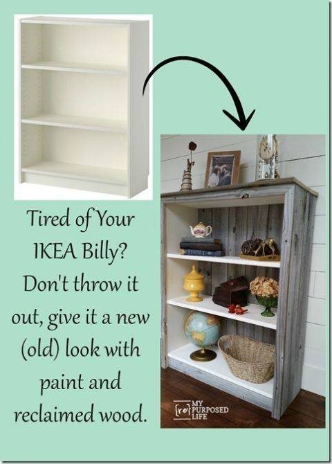 My Repurposed Life Ikea Billy Bookcase Hack