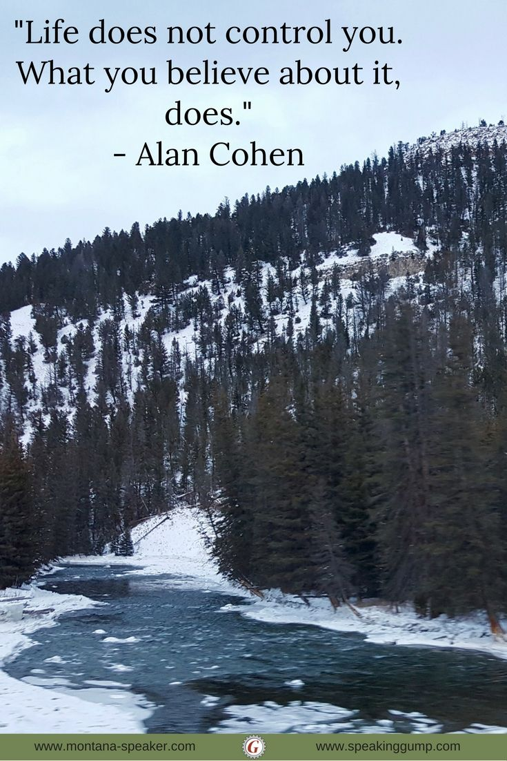 """""""Life does not control you. What you believe about it, does.""""  - Alan Cohen   #MDI"""