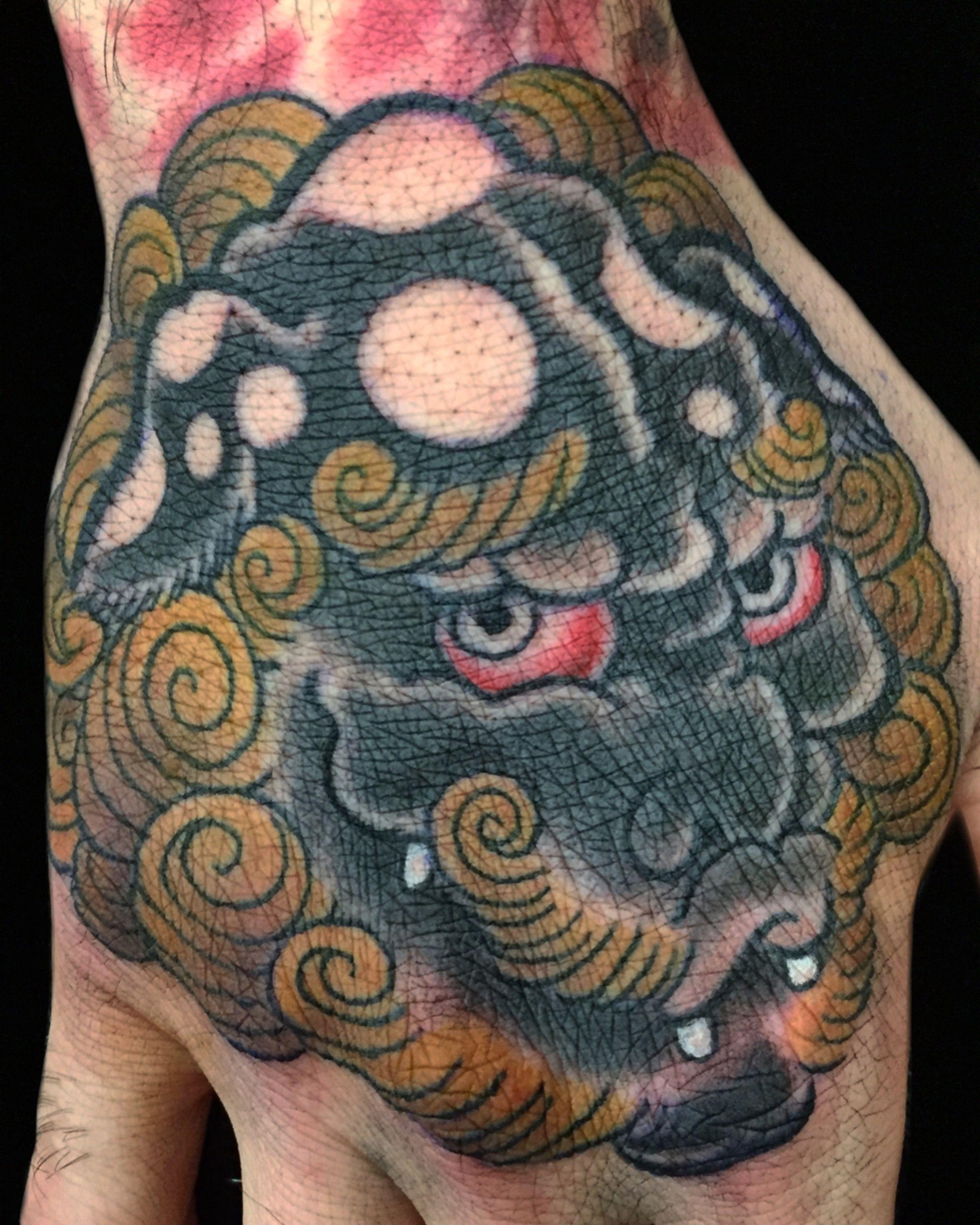Karajishi Shishi Japanese Style Tattoos By Cindy Maxwell Seventh Son Tattoo San Francisco California Dark Age Tattoo Seattle Wa Instagram Cindy Maxwe