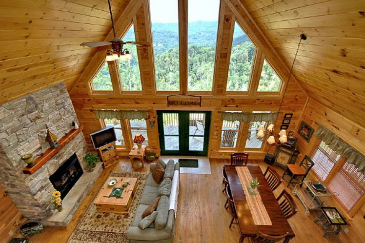 Western North Carolina Vacation Resort   Mountain Cabin Rentals   Real  Estate Scenic Wolf Mountain Resort