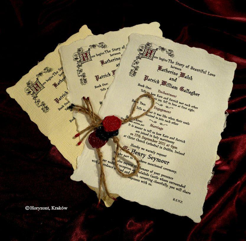 medieval wedding invitations - 833×817