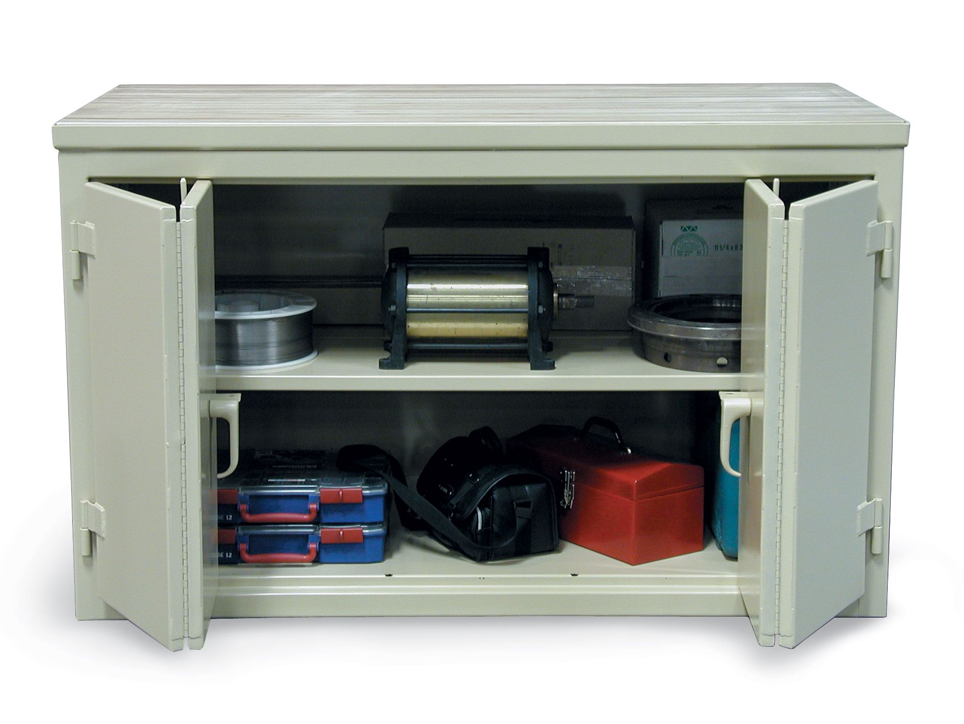 Cabinet Workbench with Bi-Fold Doors - Cabinet workbench with ...