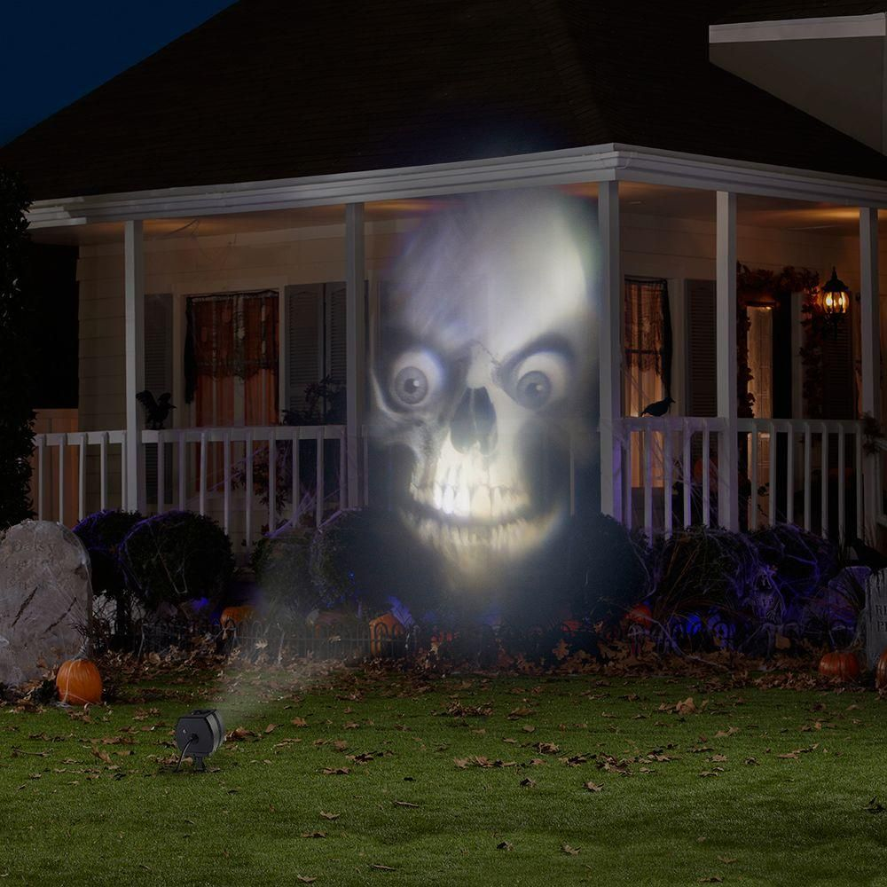 this light show projector is great for your spooky outdoor halloween display project animated images - Halloween Outdoor Lights