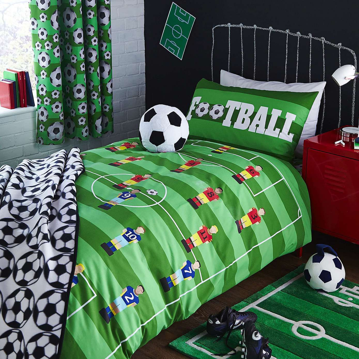 Football Duvet Cover And Pillowcase Set Football Bedroom
