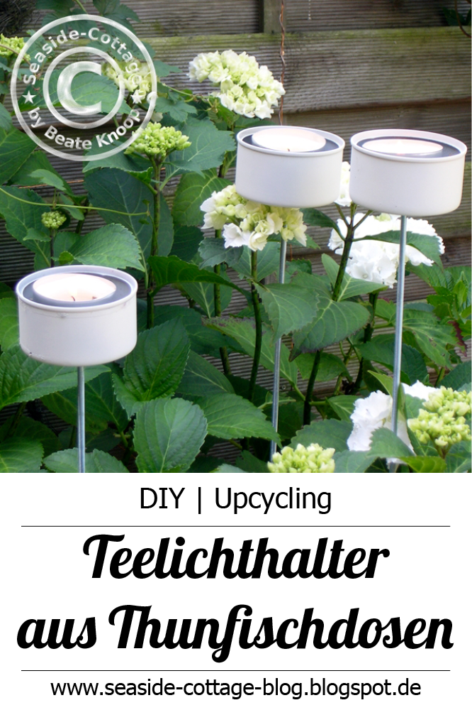 Upcycling diy gartenlichter aus thunfischdosen for Idee gartenparty