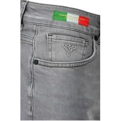 Vintage Jeans mit leichten Waschungen, Grau Carlo Colucci #makeupforbrides