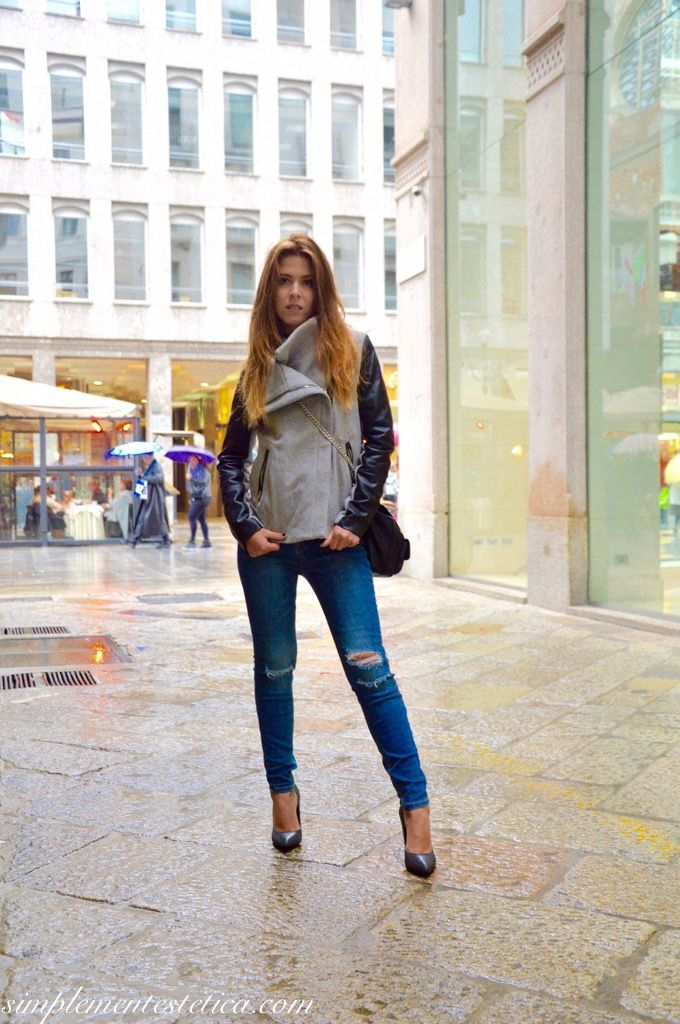 Double-outfit: look giorno/sera  #look #looks #mylooks #outfit #giorno #sera #makeup #trucco #beauty #fashion #cool #chic #elegance #casual #myblog #simplementestetica #shoes #tacchi #denim #jeans #doublelook #milano #milanday