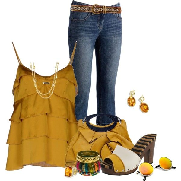 """more mustard"" by wendyfer on Polyvore"
