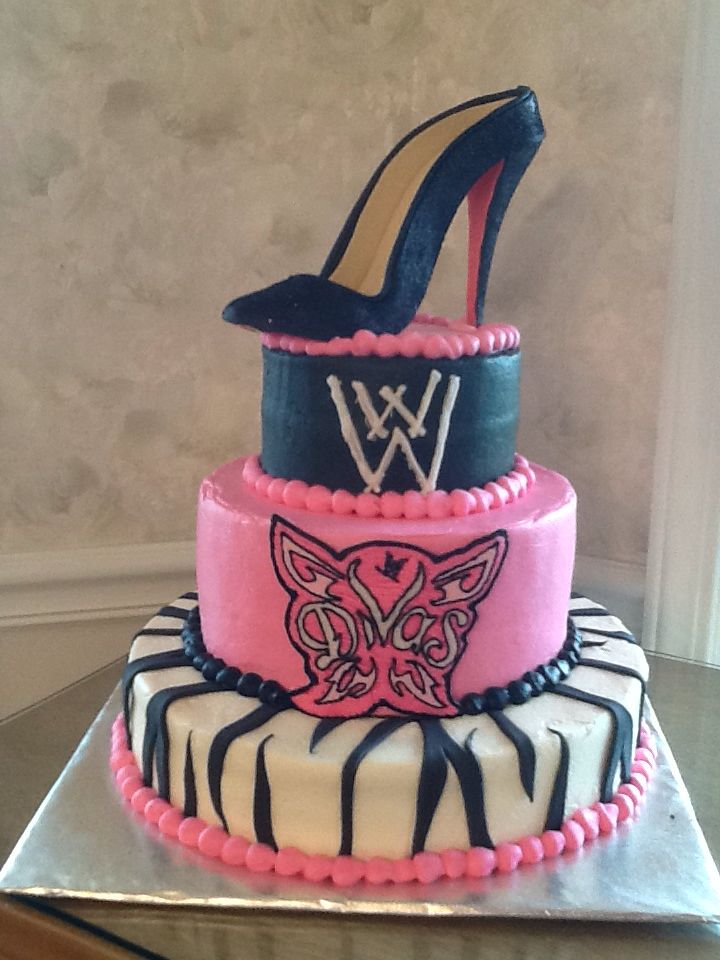 Groovy Wwe Divas Birthday Cake Wwe Birthday Cakes Wwe Birthday Diva Birthday Cards Printable Trancafe Filternl