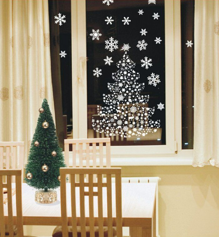 aufklebende fensterdeko f r weihnachten weihnachtsideen pinterest fensterdeko weihnachten. Black Bedroom Furniture Sets. Home Design Ideas