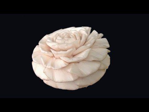 Mushroom Gardenia Flower Advanced Lesson 6 Mutita Thai Art Fruit Vegetable Carving Vegetable Carving Fruit And Vegetable Carving Fruit Carving