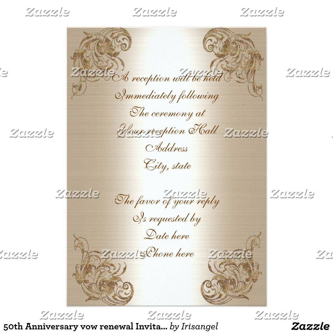 50th Anniversary vow renewal Invitation Vow