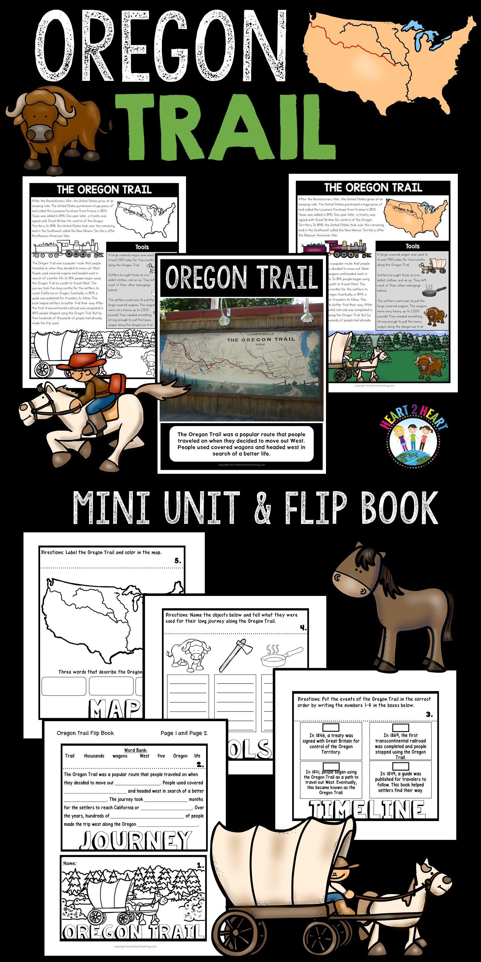 Oregon Trail Activities A Mini Unit Amp Flip Book