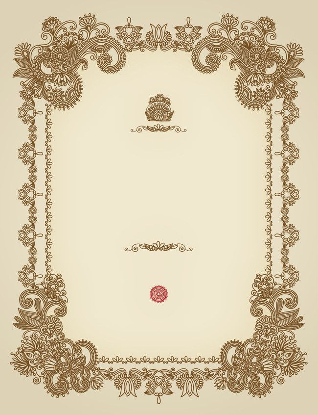 continental simple pattern invitation background material