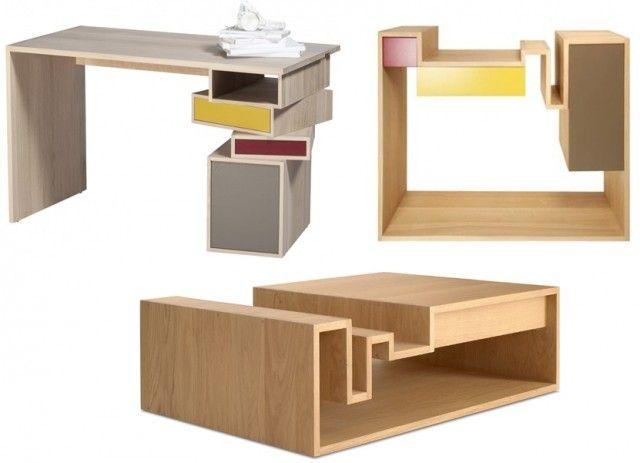 Table de bureau en bois design recherche google decorama