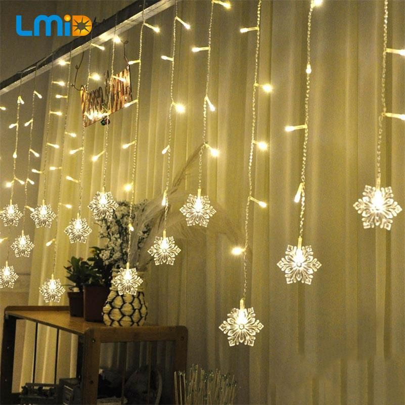 60 LED SNOWFLAKE LIGHTS | OFF THE WALL novelty | Pinterest ...