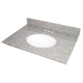 Cara White 43 Single Bathroom Vanity Top Vanity Tops With Sink