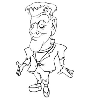 frankenstein colouring page - Frankenstein Coloring Page