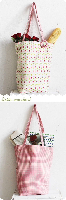 Let\'s sew it: Einkaufsbeutel zum Wenden | Pinterest | Bolsos ...