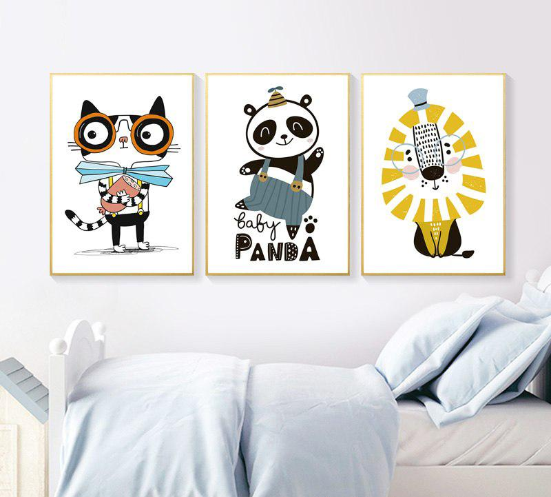 Kids Animals Gifts Wall Art Canvas Decorative Pictures Poster Print Wall Art Room Kids Decor Poster Prints Boy Wall Art Canvas Wall Art