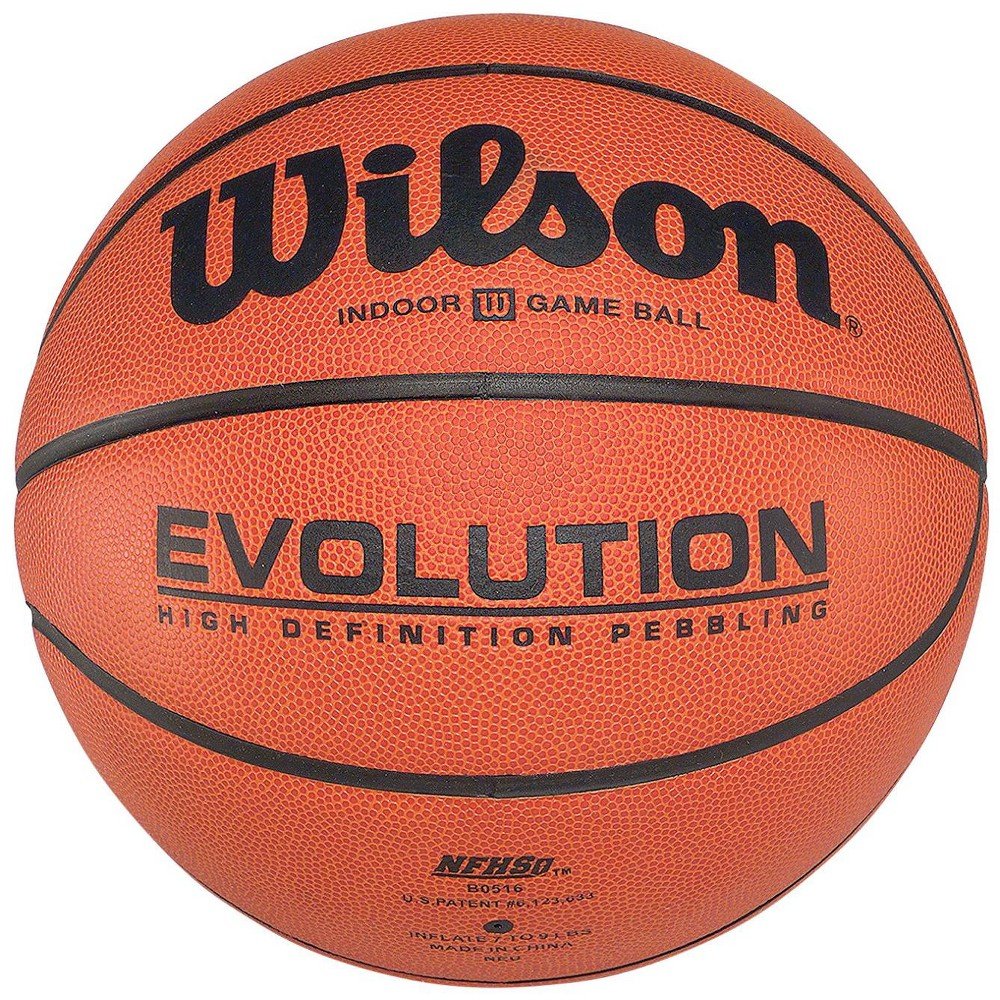 Wilson Evolution Men S Indoor Only Leather Basketball 29 1 2 Inches Orange Basketball Womens Basketball Evolution