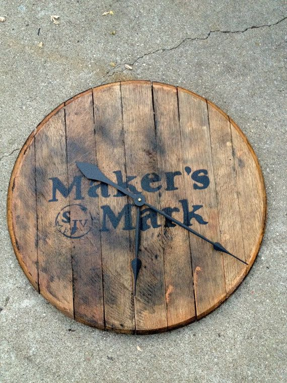 Bourbon Whiskey Barrel Head Clock Jewelry In 2019 Pinterest