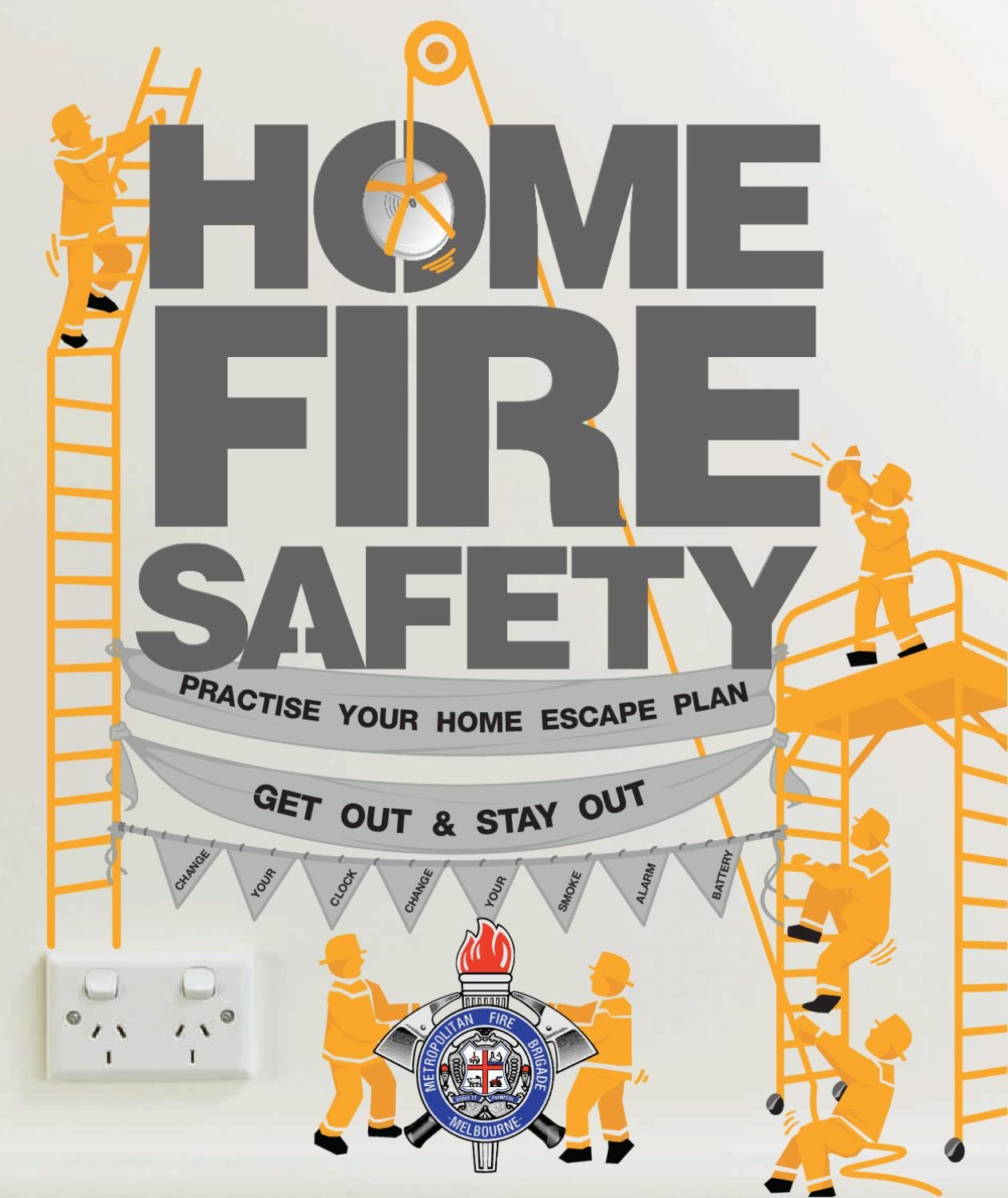 Home Fire Safety Brochure Fire safety, Fire, Escape plan