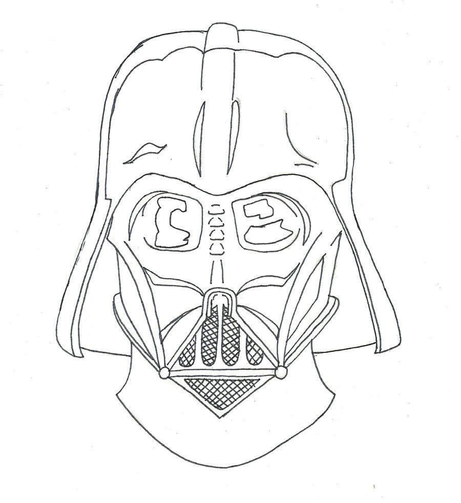 Dibujos de Darth Vader para colorear y pintar star wars la