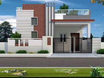 1080 sqft 2 bhk villa builder project other homes for Independent house front elevation photos