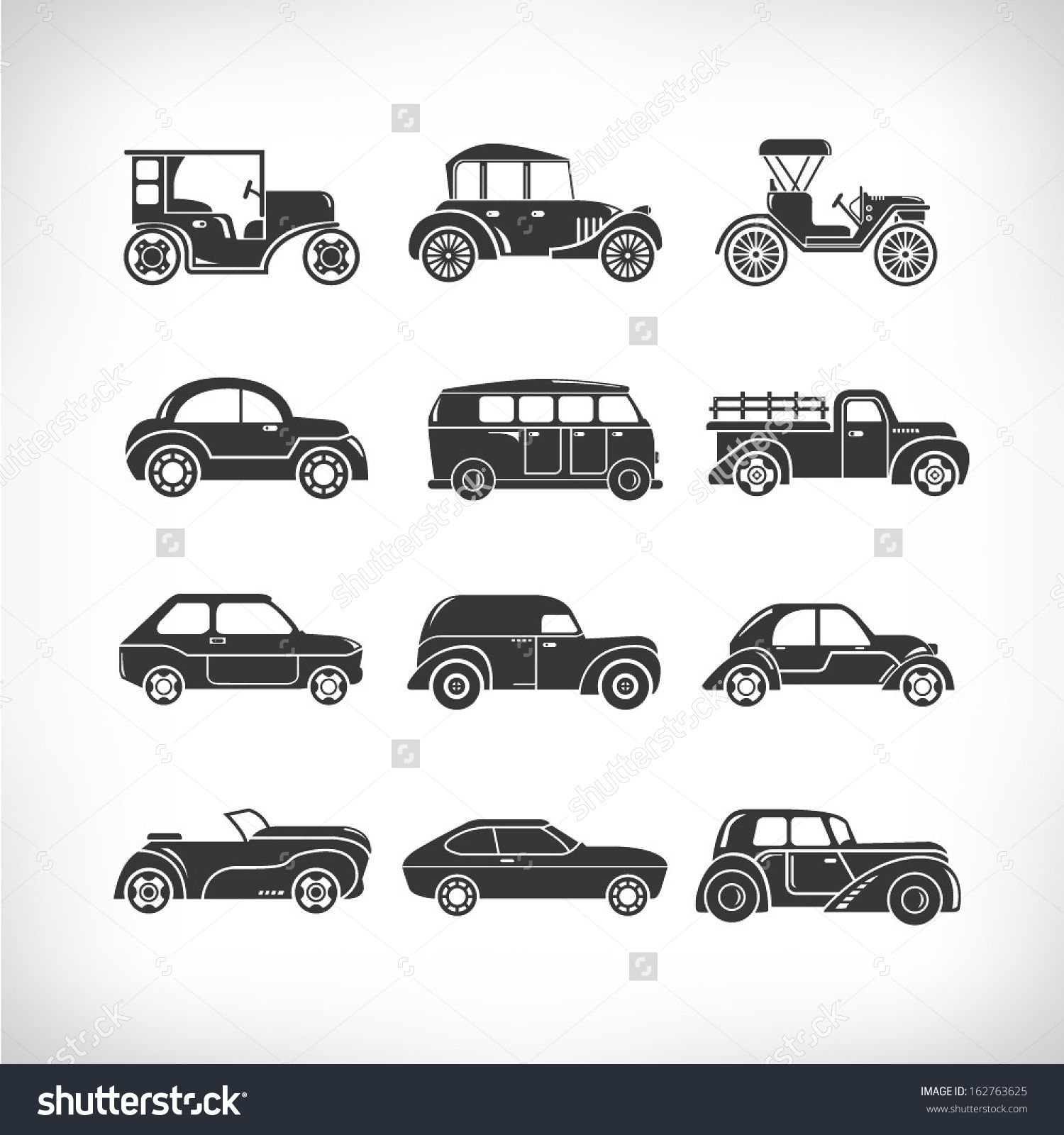 Image Result For Classic Car Icons Icon Sets Pinterest