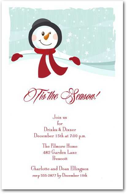 Silver Bells Christmas invitations, Holiday party invitations - holiday party invitation