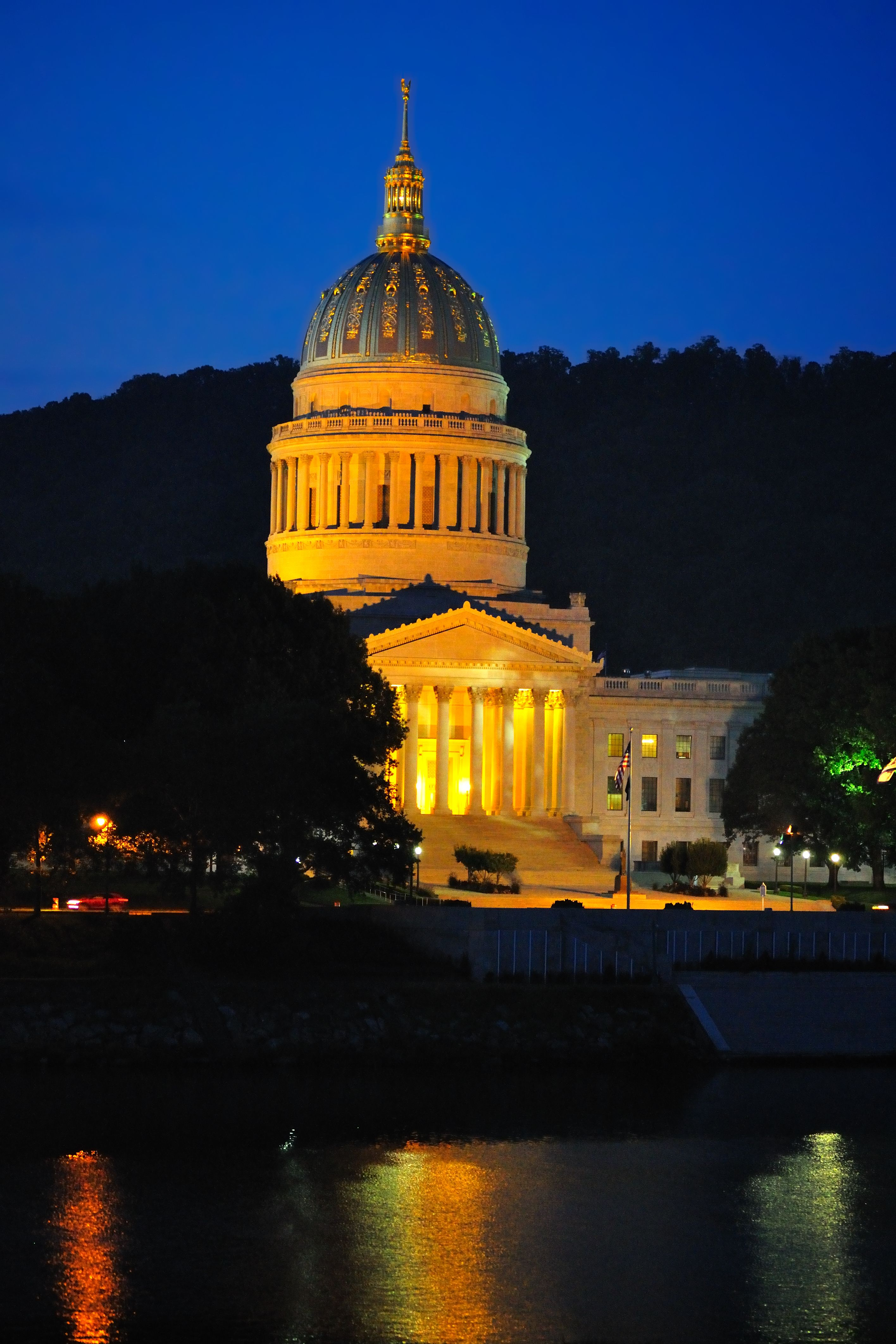 Wv State Capital at night