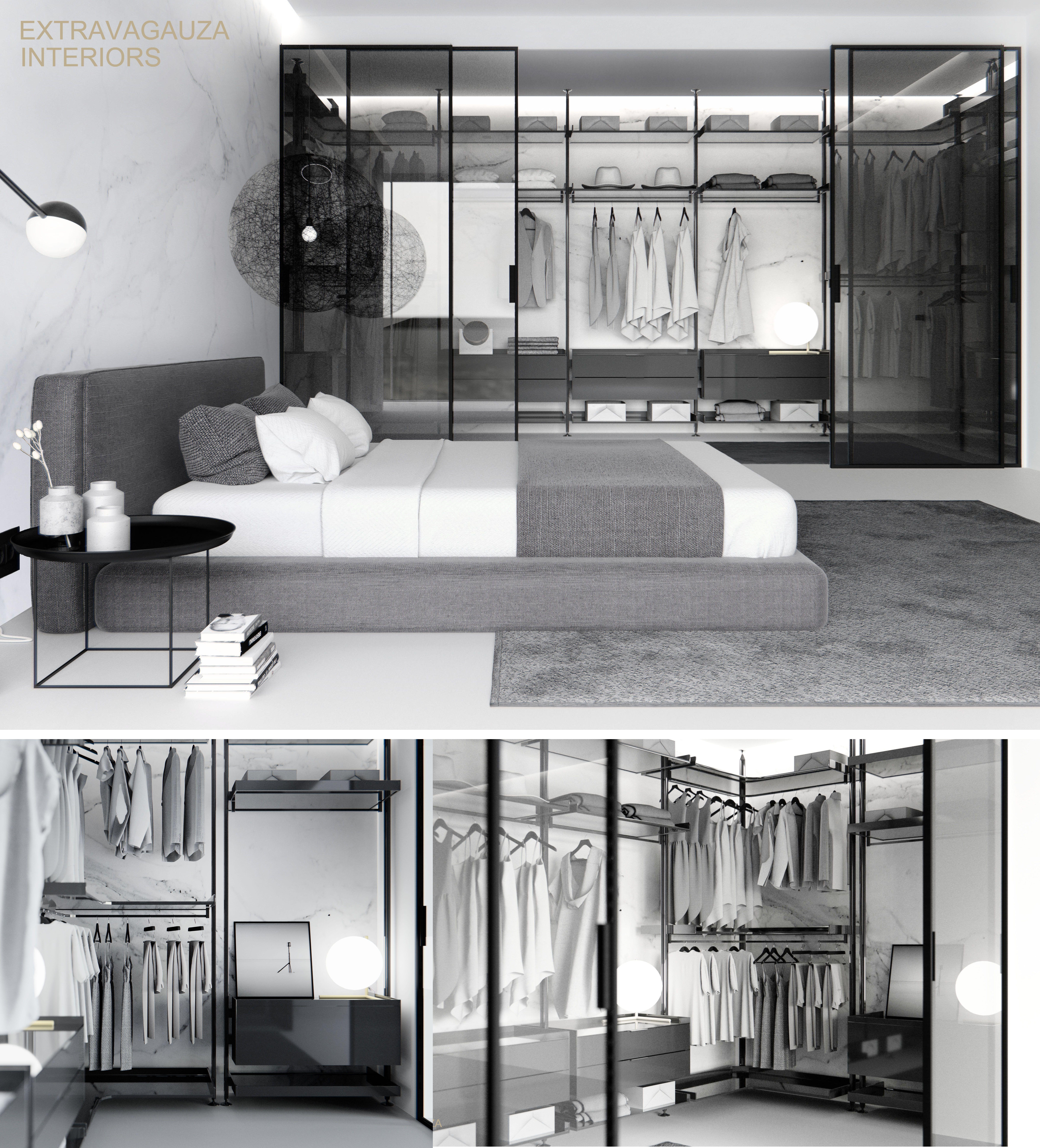 Fabulous Minimalist Furniture For Interior Home Design: Contemporary Minimalist Bedroom