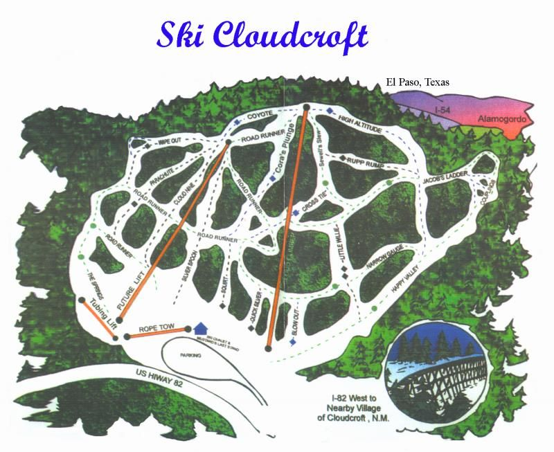 Ski In New Mexico Map.Image Result For Cloudcroft Trail Map Maps To Study Pinterest