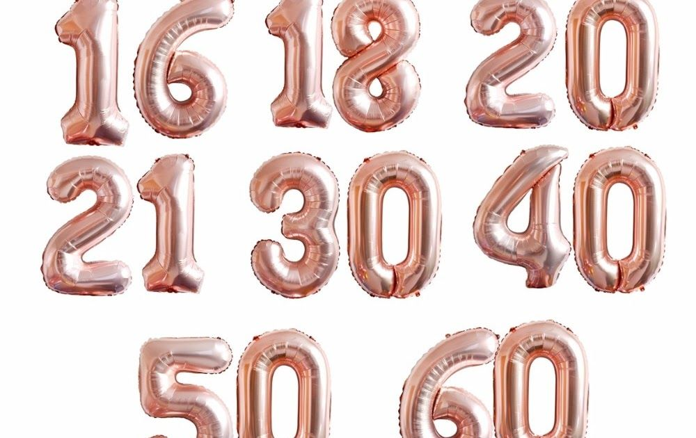 Event & Party Kammizad Christmas 1 2 3 4 5 6 7 8 9 Rose Gold Number Foil Balloons Digital Helium Ballon Birthday Party Baloon Adult Globos Festive & Party Supplies