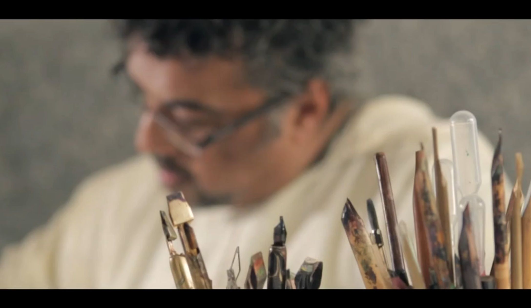 Samir and calligraphy pens
