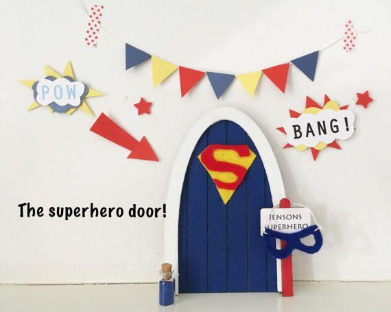 Superhero door superman magic doors fairy doors for The magic fairy door