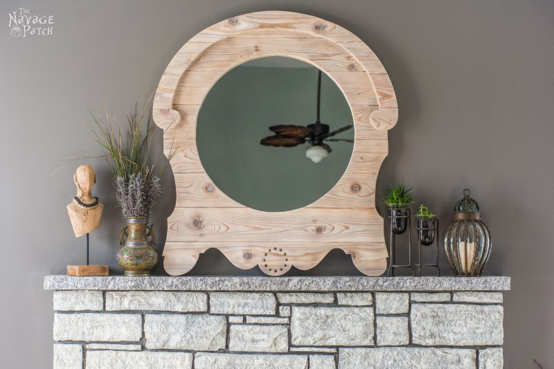 Diy French Country Style Mirror Upcycled With A Frame Home Decor