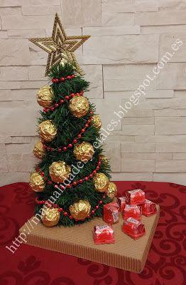 Arbol Navidad Bombones Tutorial Manualidades Manualidad Craft Crafts Manualidades Navidenas Cestas De Regalos De Navidad Regalos De Navidad Hechos A Mano
