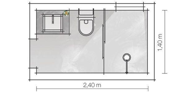 Decoracion facil cuartos de ba o peque os bien for Baneras pequenas medidas