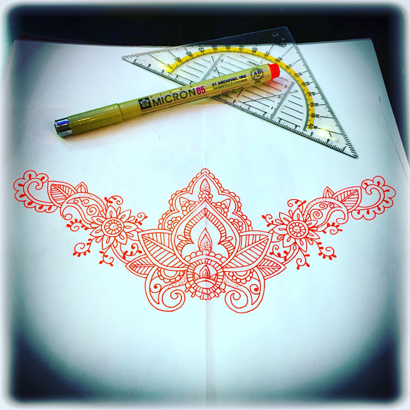 Mandala tattoo design for under the chest or lower back