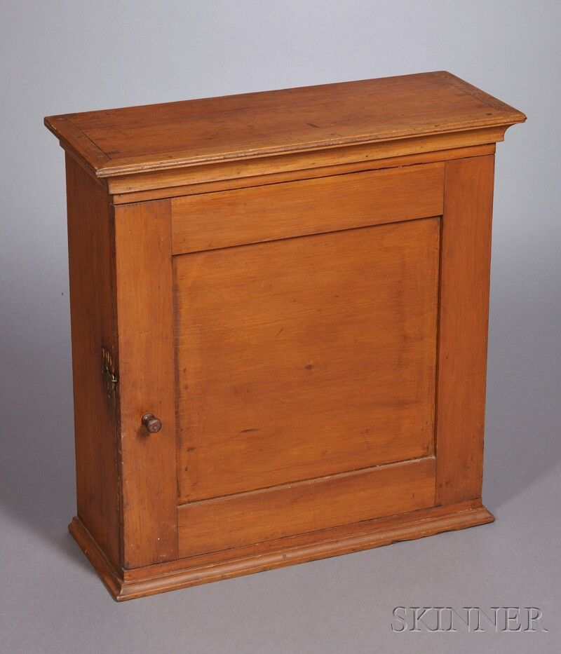 Shaker Pine Hanging Wall Cupboard Mt Lebanon New York C 1840 Dovetail Construction Case With Paneled Wall Cupboards Shaker Furniture Primitive Furniture