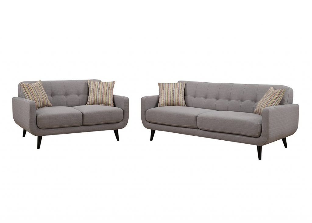 Best Christies Home Living 2 Piece Crystal Gray Sofa And Love 400 x 300