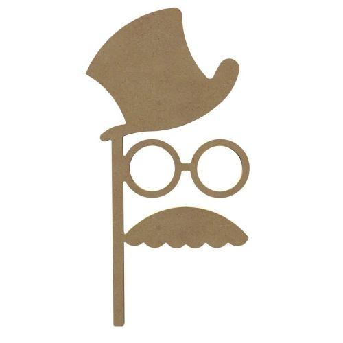 chapeau lunette et moustache photobooth bois m dium 38cm lights camera mystery kan iii. Black Bedroom Furniture Sets. Home Design Ideas