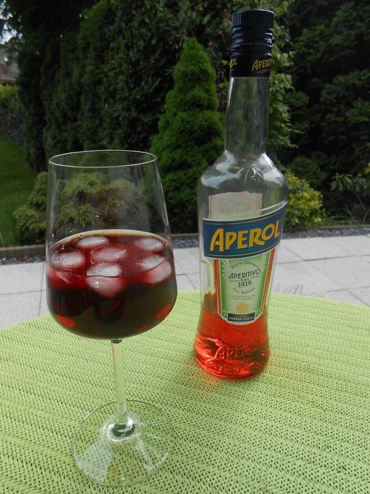 Aperol mit Cassis #nonalcoholicbeverages